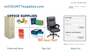 micountysupplies.com home page