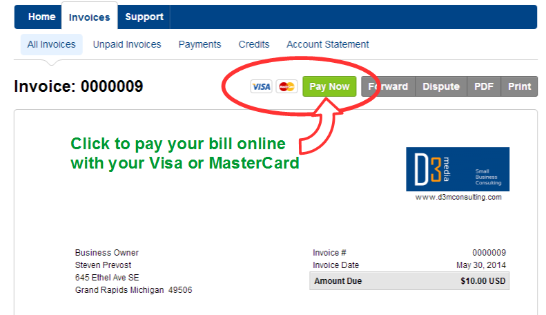 D3 Media Consulting Now Has Online Bill Pay